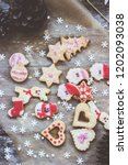 royal icing decorated christmas ... | Shutterstock . vector #1202093038