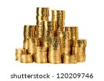 Gold Coin Stack Isolated On...