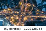 aerial view of a unique city... | Shutterstock . vector #1202128765