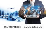 smart technology concept with... | Shutterstock . vector #1202131102