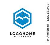hexagon letter s architecture... | Shutterstock .eps vector #1202131918