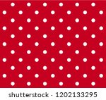 Vintage Polka Dots White And...