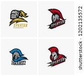 set of spartan warrior logo... | Shutterstock .eps vector #1202135572