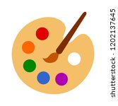 color palette with colorful... | Shutterstock .eps vector #1202137645