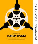 movie and film festival poster...   Shutterstock .eps vector #1202141152