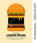 movie and film festival poster...   Shutterstock .eps vector #1202141155