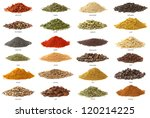 Different Spices Isolated On...