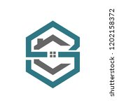 hive realty initial s c logo | Shutterstock .eps vector #1202158372