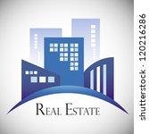 modern real estate buildings... | Shutterstock .eps vector #120216286