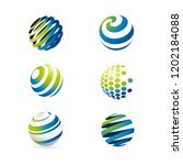 abstract globe symbol set ... | Shutterstock .eps vector #1202184088