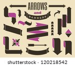 a set of retro style banners... | Shutterstock .eps vector #120218542