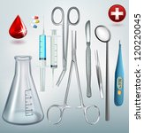medical tools vector set | Shutterstock .eps vector #120220045