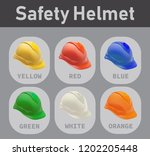 catalog of safety helmet with... | Shutterstock .eps vector #1202205448