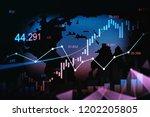 stock market or forex trading... | Shutterstock . vector #1202205805