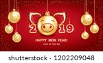 pig is a symbol of the 2019... | Shutterstock .eps vector #1202209048