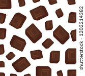 sweet chocolate cubes pattern | Shutterstock .eps vector #1202214382