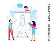 the development team creates a... | Shutterstock .eps vector #1202219062