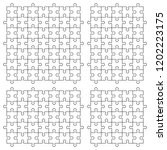 a lot of piece flat puzzle... | Shutterstock . vector #1202223175