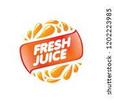 logo for fresh juice. vector... | Shutterstock .eps vector #1202223985