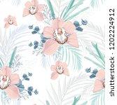 vector seamless tropical... | Shutterstock .eps vector #1202224912