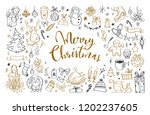 big set of christmas design... | Shutterstock .eps vector #1202237605