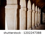 archway with columns and arches ... | Shutterstock . vector #1202247388