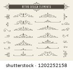 retro line design elements | Shutterstock .eps vector #1202252158