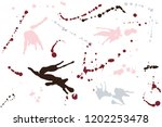 hand drawn set of colorful ink...   Shutterstock .eps vector #1202253478