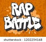 rap battle vector illustration...   Shutterstock .eps vector #1202254168