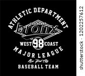 graphic bronx for shirt and... | Shutterstock .eps vector #1202257612