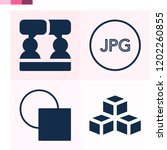 contains such icons as social ... | Shutterstock .eps vector #1202260855