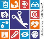set of 13 medical filled icons... | Shutterstock .eps vector #1202265652