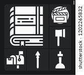 set of 6 vintage filled icons... | Shutterstock .eps vector #1202265832