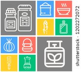 simple set of  10 outline icons ... | Shutterstock .eps vector #1202272072