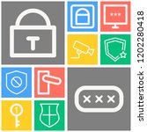 simple set of  10 outline icons ... | Shutterstock .eps vector #1202280418