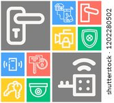 simple set of  10 outline icons ... | Shutterstock .eps vector #1202280502