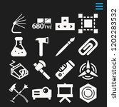 set of 16 tool filled icons...   Shutterstock .eps vector #1202283532