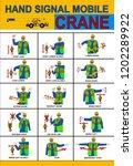 construction worker crane hand...   Shutterstock .eps vector #1202289922