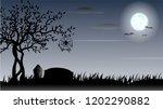 halloween day background decor... | Shutterstock .eps vector #1202290882