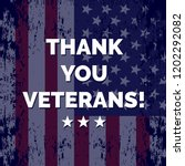 happy veteran's day. thank you... | Shutterstock .eps vector #1202292082