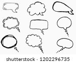 doodle chat cartoon bubbles....   Shutterstock .eps vector #1202296735