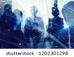 silhouette of business people... | Shutterstock . vector #1202301298