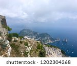 cloudy sky over the capri | Shutterstock . vector #1202304268