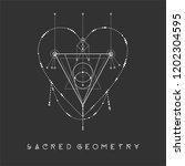 esoteric sacred geometry vector ... | Shutterstock .eps vector #1202304595