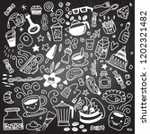 collection of hand drawn... | Shutterstock .eps vector #1202321482