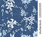 little flowers. seamless... | Shutterstock .eps vector #1202322355