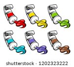 set of various colors are... | Shutterstock .eps vector #1202323222