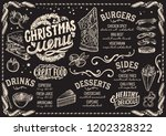 christmas menu template for... | Shutterstock .eps vector #1202328322