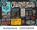 christmas menu template for... | Shutterstock .eps vector #1202328328