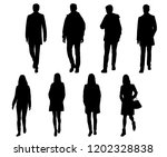 vector silhouettes men and... | Shutterstock .eps vector #1202328838